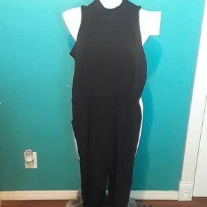Black open back jumper